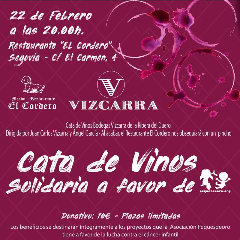 Cata de Vinos Solidaria PequesdeOro - Bodegas Vizcarra y Restaurante El Cordero
